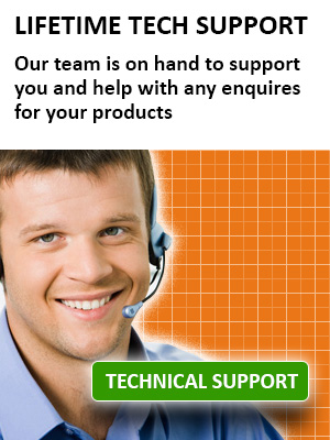 Tech Support for the lifetime of your product