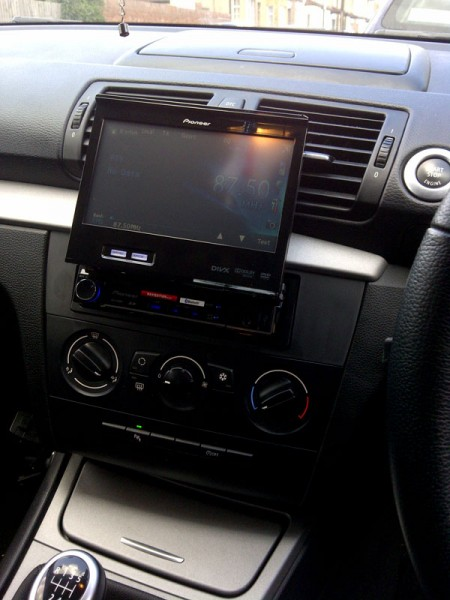 BMW 1 Series has the Pioneer AVH-6300BT fitted at the Car Audio Centre Tooting