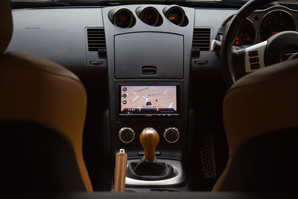 Nissan 350Z has the Sony XNV-L77BT installed at Car Audio Centre Tooting