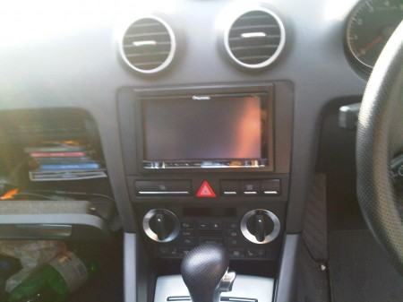 Pioneer avic f20bt in audi a3 installed by car audio for Mueble 2 din audi a3