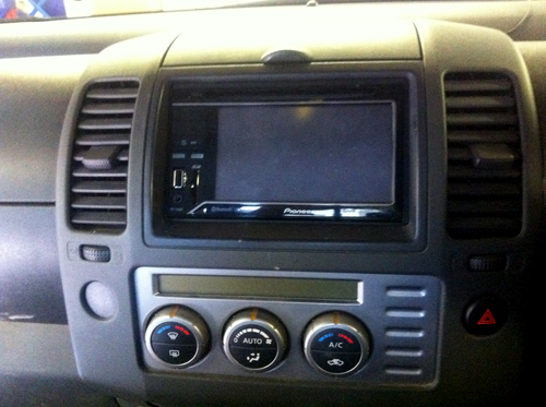 Nissan Navara has the Pioneer AVH-3300BT installed at the Car Audio Centre Tooting