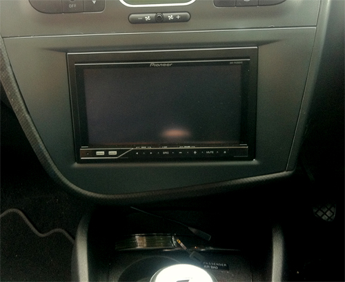 New Seat Leon With a Pioneer AVH-P4200DVD  fitted at the Car Audio Centre Tooting 