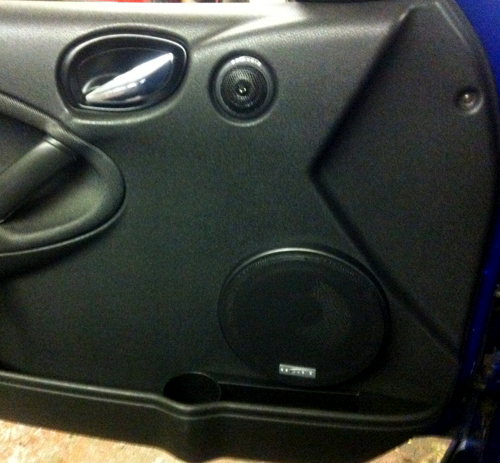DB Audio Trex6.2C fitted into a MG ZR at Car Audio Centre Tooting 