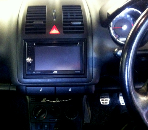 JVC KW-AVX740 fitted at the Car Audio centre Tooting VW Lupo 