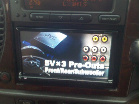 JVC KW-AVX830 double din in car multimedia system Ipod usb detachable front panel
