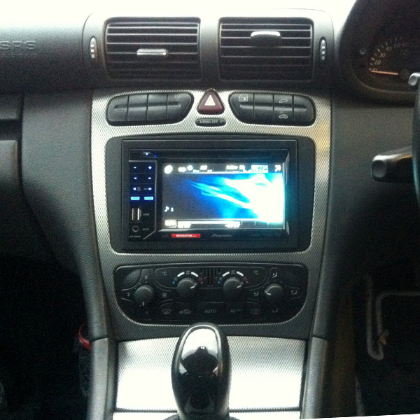 Mercedes Coupe C-Class Has a Pioneer AVH-3300BT installed at Car Audio centre Tooting 
