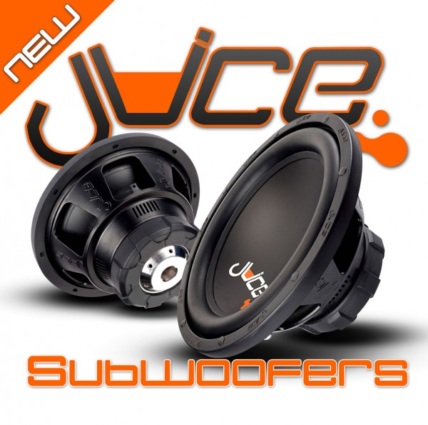 New Juice JS8 and JS10 subwoofer now in stock at the Car Audio Centre