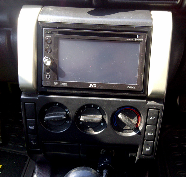 JVC KW-AVX740 Double din multimedia system installed into Land Rover FreeLander