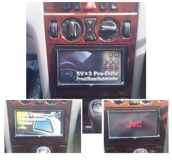Mercedes Benz E-Class Double Din KW-AVX730 iPod USB DVD CD MP3