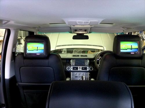 range rover auto biography alpine TME-710 headrests car audio centre nottingham