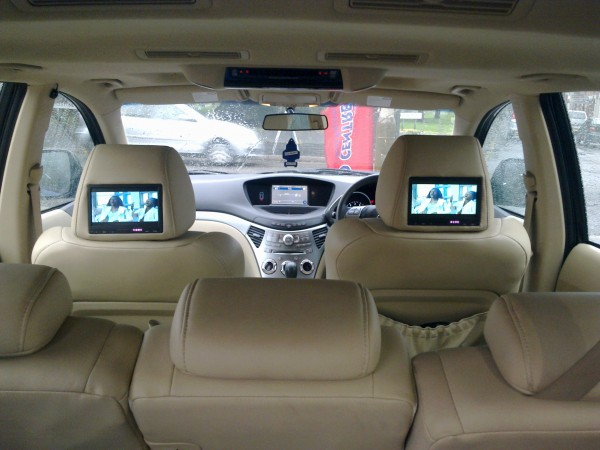 Subaru Tribeco Rear Entertainment system at the Car Audio Centre Leicester