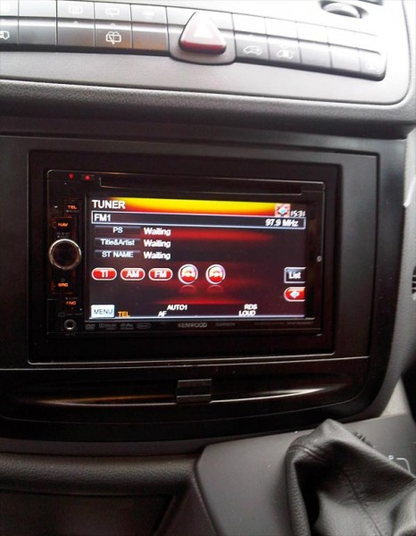 Kenwood DNX-5260BT installed into a Mercedes Vito Car Audio Centre Tooting
