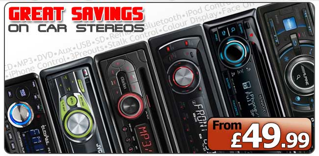 Great Savings on Car Stereos, CD / MP3 / WMA Players