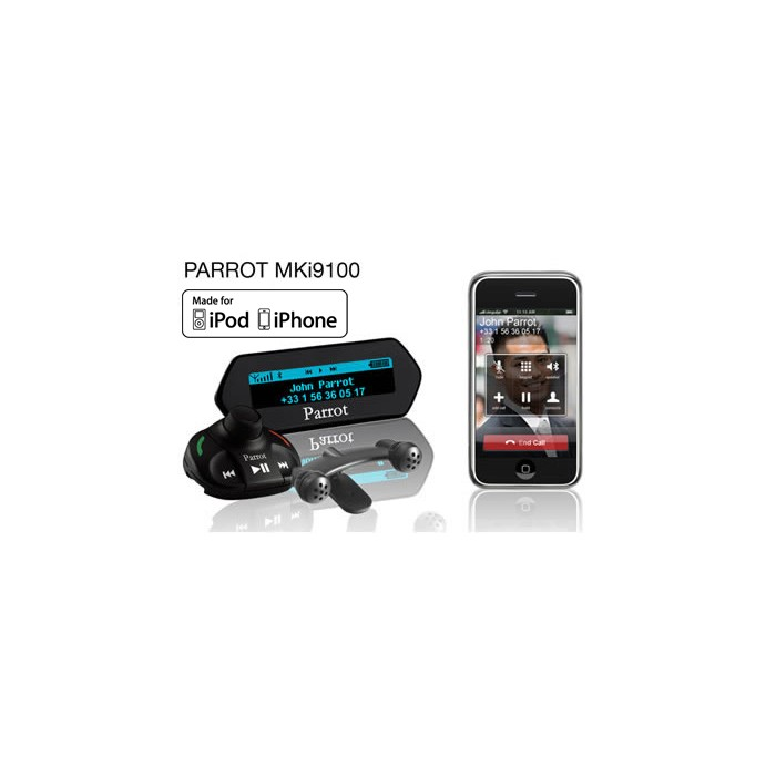 Bluetooth Music Streaming Kit Ipod Media Interface Cable: Parrot MKI9100 Great Handsfree Kit For Calls And Music