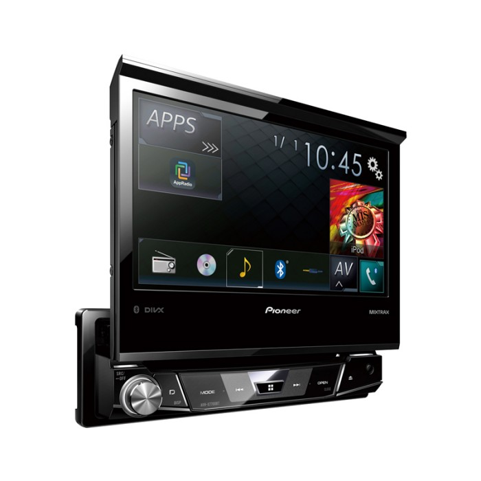 pioneer avh x7700bt motorised single din dvd system and bluetooth. Black Bedroom Furniture Sets. Home Design Ideas