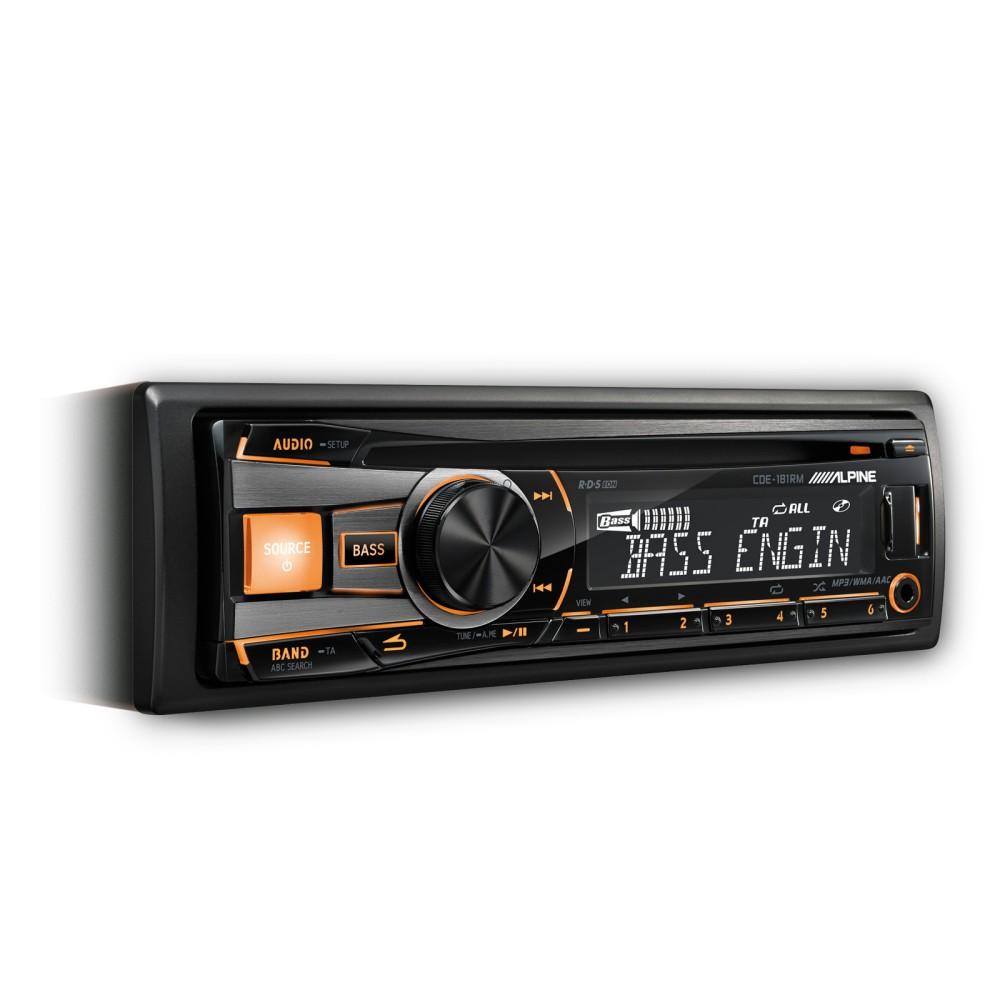 Alpine CDE-171RM Car Stereo System CD/MP3 App Direct Mode iPhone/Android Compatible
