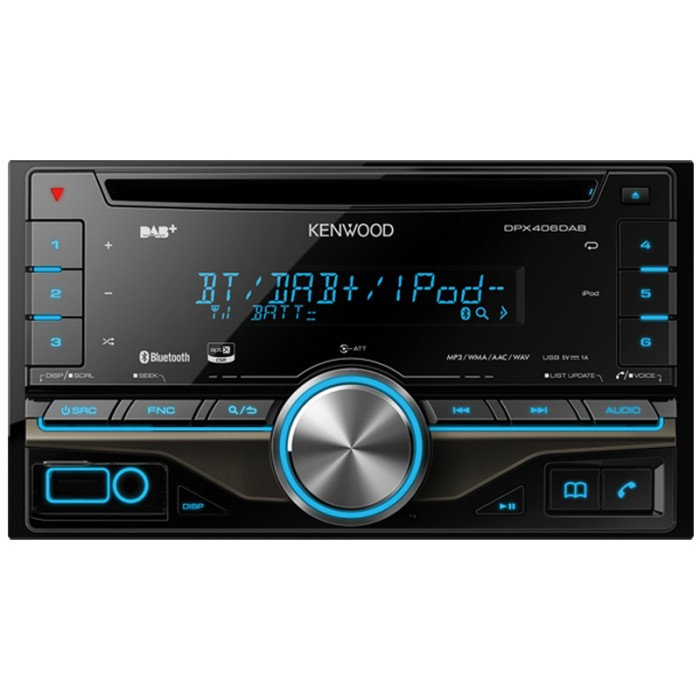 dpx 406dab double din dab tuner with bluetooth and usb aux in. Black Bedroom Furniture Sets. Home Design Ideas