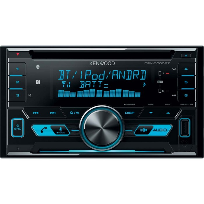 kenwood dpx5000bt double din car stereo with bluetooth usb ipod au. Black Bedroom Furniture Sets. Home Design Ideas