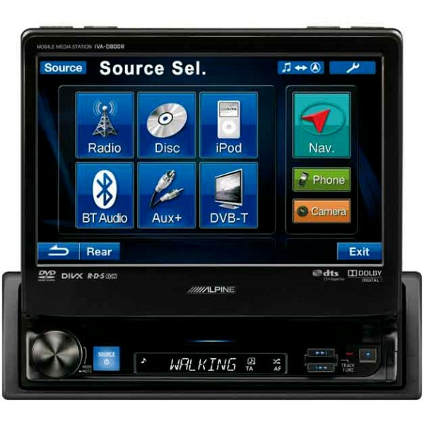 Alpine IVA-D800R Flagship Multimedia system iPod DVD system - Car Audio Centre