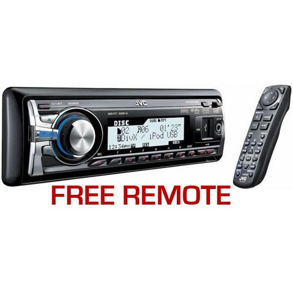 JVC KD-DV7402 DVD / MP3, Giga MP3, DivX, USB - Car Audio Centre