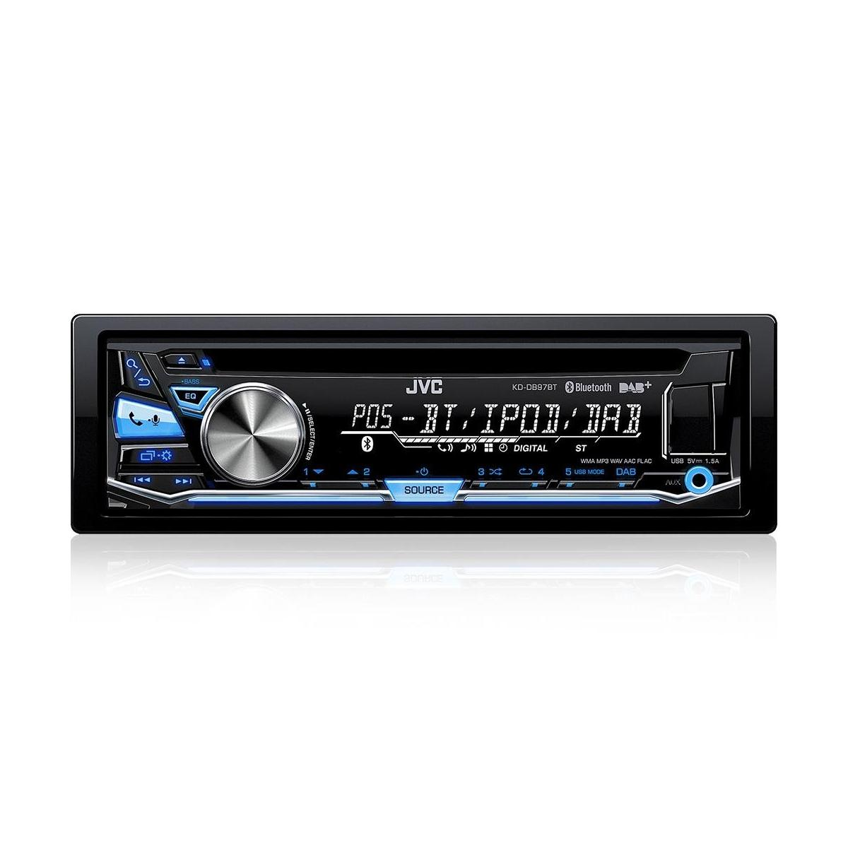 kd db97bt cd mp3 car stereo with front usb aux input and bui. Black Bedroom Furniture Sets. Home Design Ideas