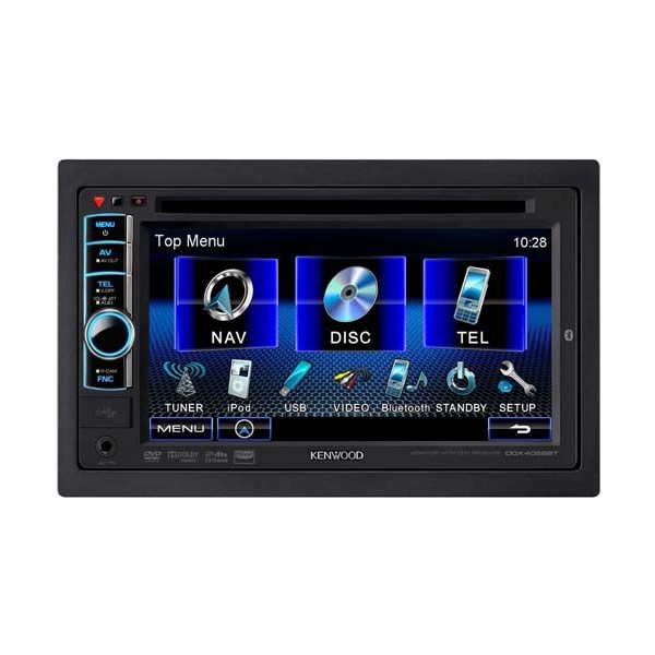 Kenwood Ddx4028bt Double Din Multimedia System Built In