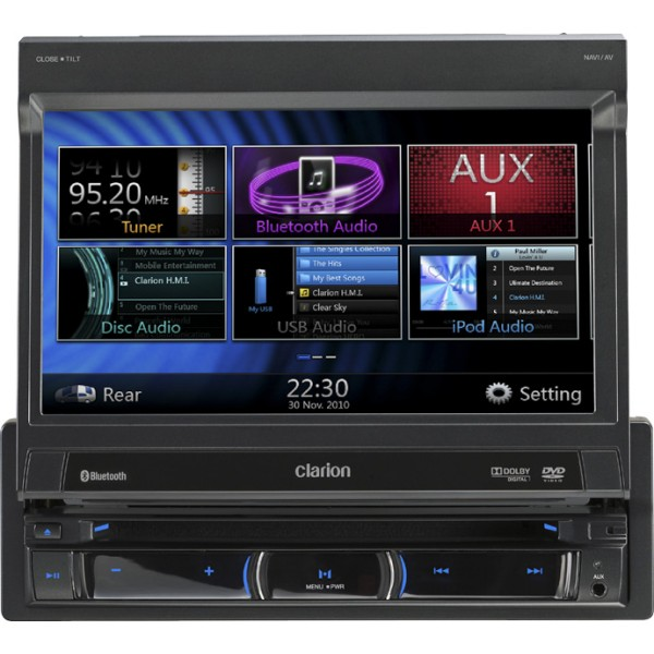 Clarion NZ501E DVD MULTIMEDIA STATION WITH 7-inch TOUCH PANEL & BUILT-IN NAVIGATION - Car Audio Centre