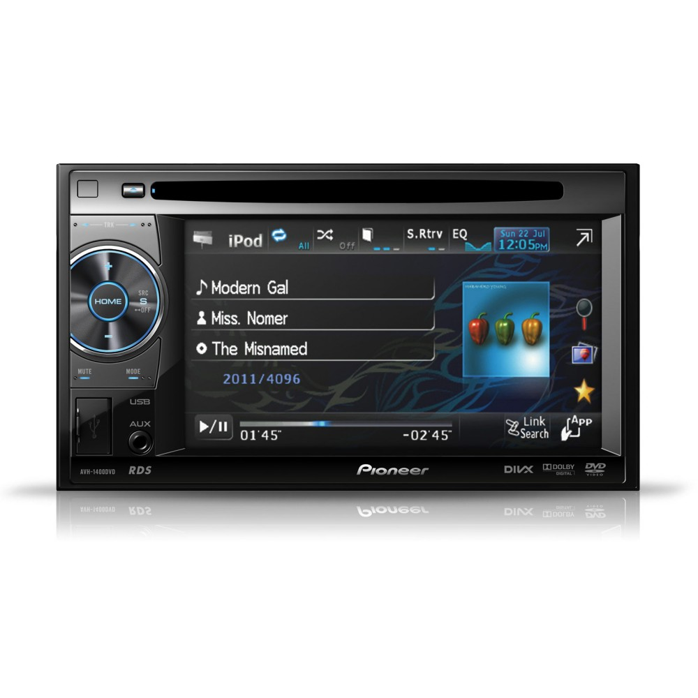 Pioneer AVH1400DVD Double-Din AV Player - 5.8-inch Touch Screen, iPod/iPhone Control,USB and Aux-in - Car Audio Centre