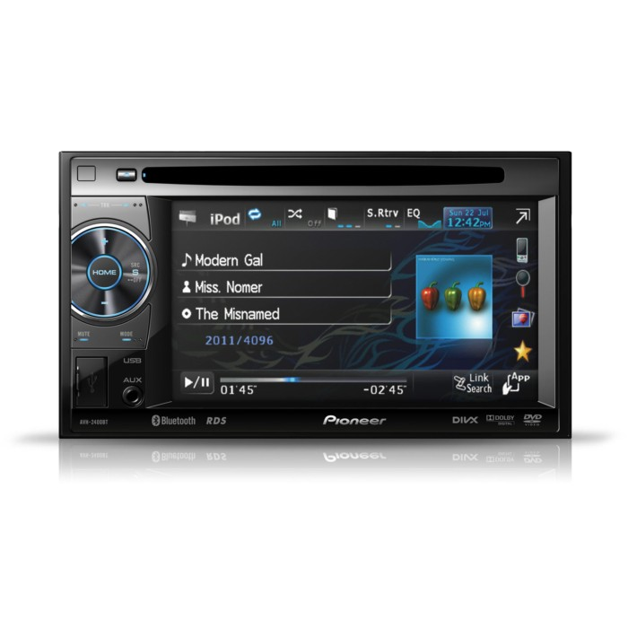 double din bluetooth av player with 5 8 inch screen ipod. Black Bedroom Furniture Sets. Home Design Ideas