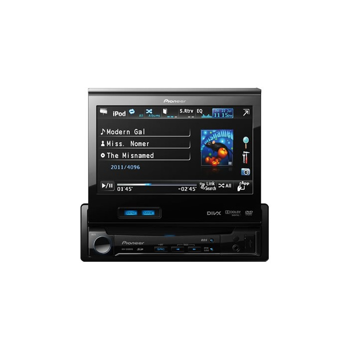 "Pioneer AVH-5300DVD 1-Din AV DVD Player With 7"" Screen, SD"