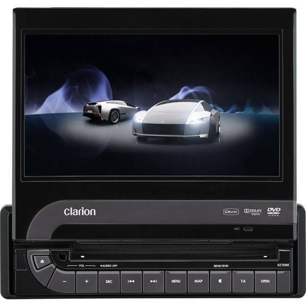 Clarion VZ709E 7 inch DVD multimedia station. Built-in Bluetooth - Car Audio Centre