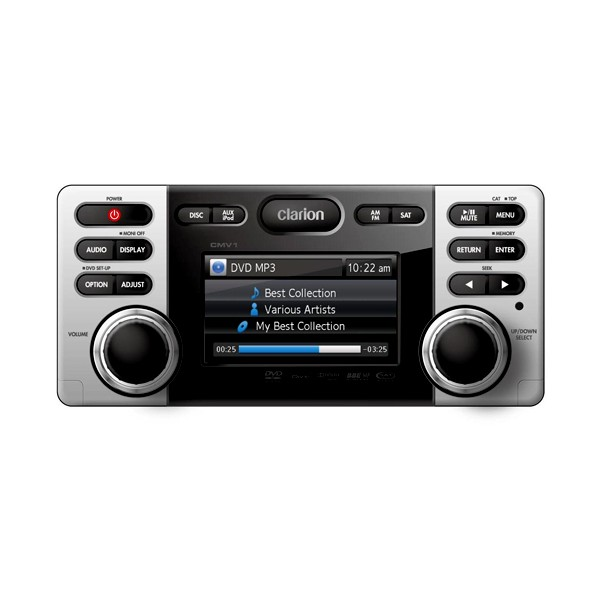 clarion cmv1 marine stereo reciever dvd cd usb cenet. Black Bedroom Furniture Sets. Home Design Ideas
