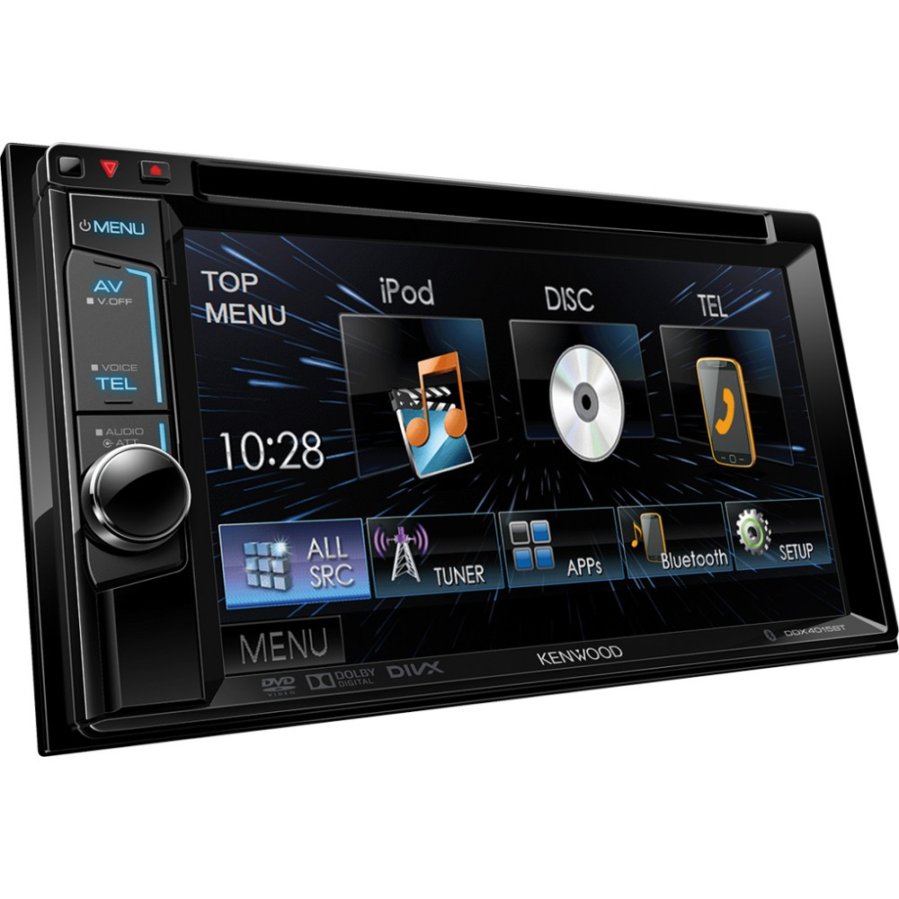 kenwood ddx 4015bt double din multimedia head unit with. Black Bedroom Furniture Sets. Home Design Ideas