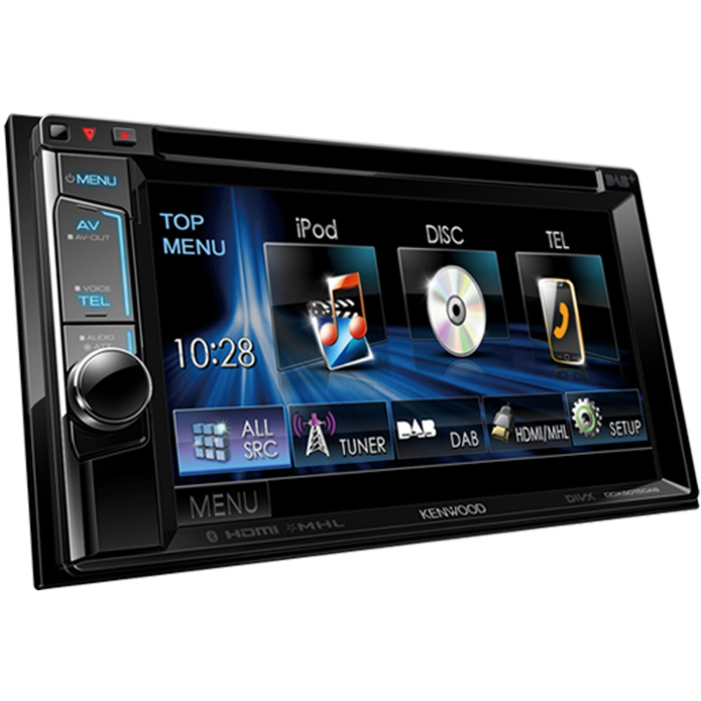 kenwood ddx 5015dab 6 2 double din head unit with built. Black Bedroom Furniture Sets. Home Design Ideas