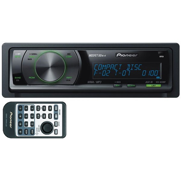 Pioneer DEH-6010MP CD/MP3 Tuner with Rotary Commander and 2 RCA pre-outs - Car Audio Centre