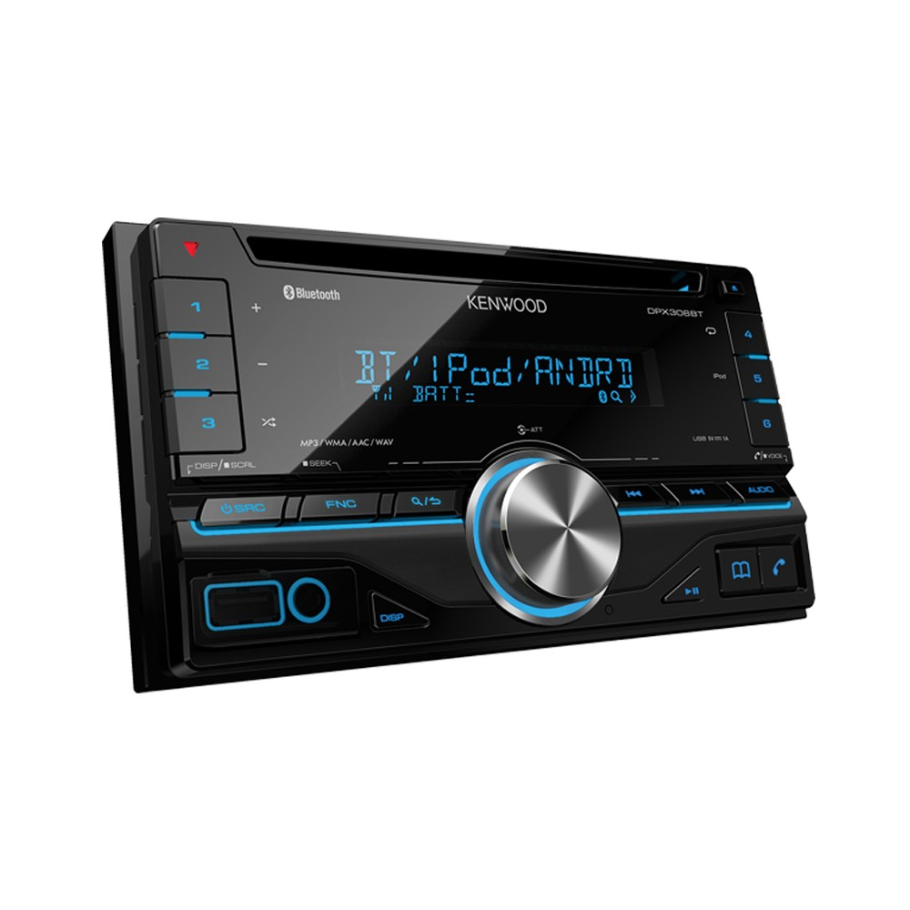 kenwood dpx 306bt double din car stereo with built in blueto. Black Bedroom Furniture Sets. Home Design Ideas