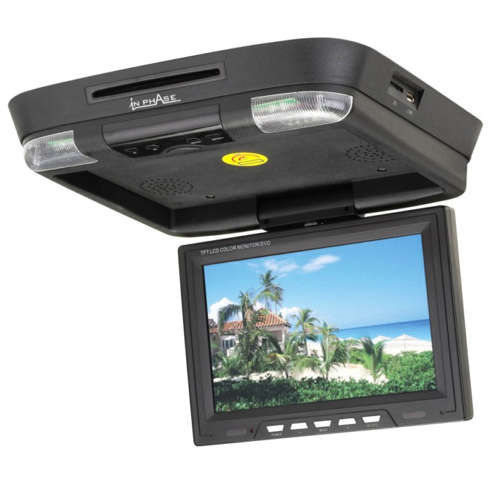 Ivr11 Roof Mount Dvd Entertainment System Usb Sd Card Reade