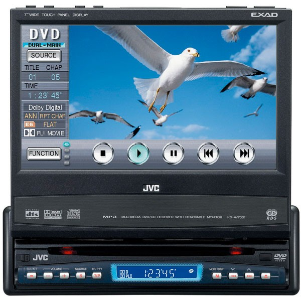 JVC KD-AV7001 Motorised DVD 7 inch monitor - Car Audio Centre