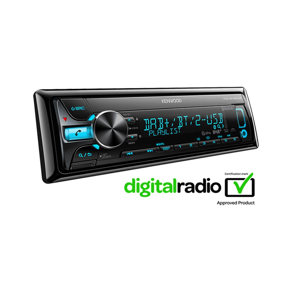 kdc bt48dab bluetooth car stereo with dab radio built in f. Black Bedroom Furniture Sets. Home Design Ideas