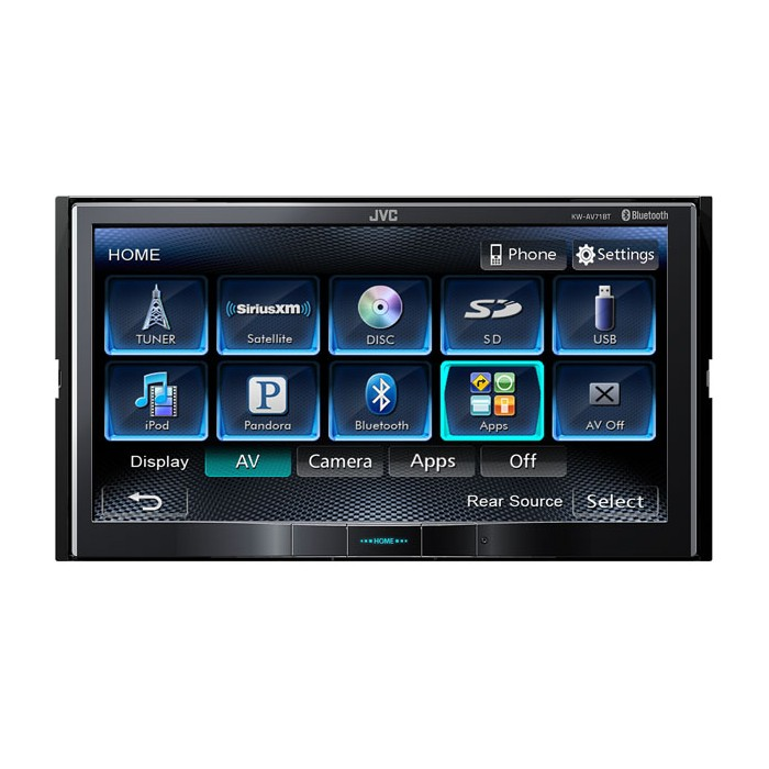 jvc double din car stereo with 7 screen and dvd. Black Bedroom Furniture Sets. Home Design Ideas