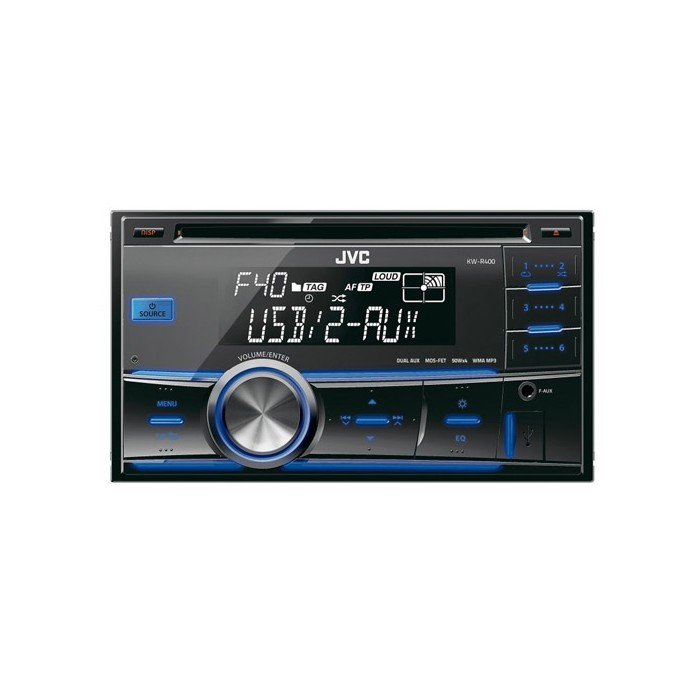 kw r400 double din stereo usb cd front usb port and aux. Black Bedroom Furniture Sets. Home Design Ideas