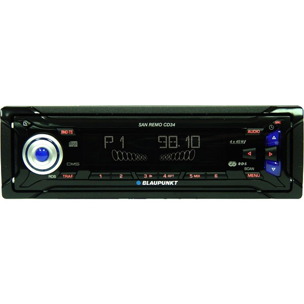 san remo cd34 cd car stereo with aux input. Black Bedroom Furniture Sets. Home Design Ideas