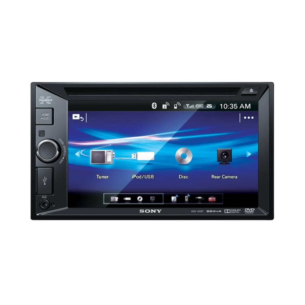 Sony XAV68BT Double DIN A/V Head Unit With Bluetooth
