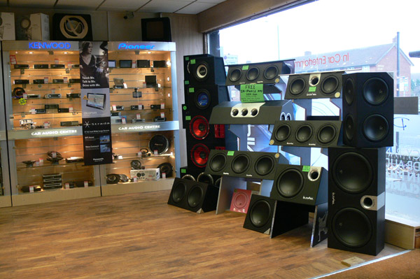 Car audio stores
