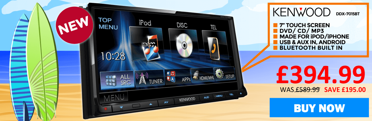 Kenwood DDX-7015BT Double din 7 inch Touchscreen USB/DVD reciever with Bluetooth handsfree