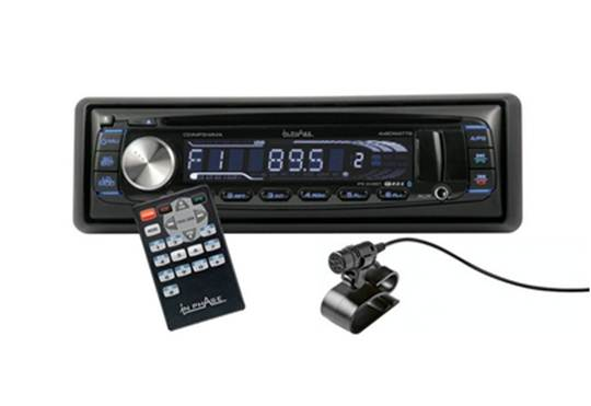 In Phase IPS-249BT Bluetooth car stereo system Front USB/AUX input