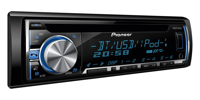 Pioneer DEH-X5600BT Mixtrax Bluetooth MP3 Stereo USB iPod iPhone Android Control