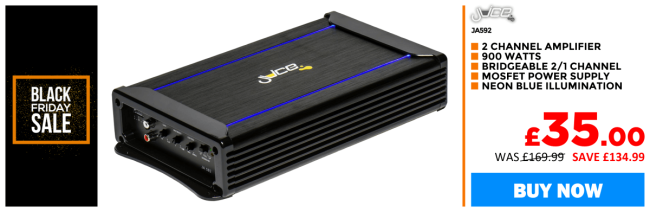 Juice JA592 - Illuminated Series 900W 2 Channel Amplifier