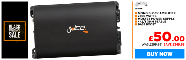 Juice JA1801D Digital Mono Block 2400 watts Power amplifier Compact design