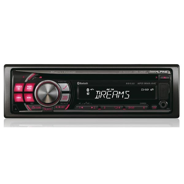 alpine cde 126bt bluetooth handsfree car stereo front usb. Black Bedroom Furniture Sets. Home Design Ideas